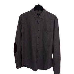 J Crew Flannel Button Down Shirt Long Sleeve Brown